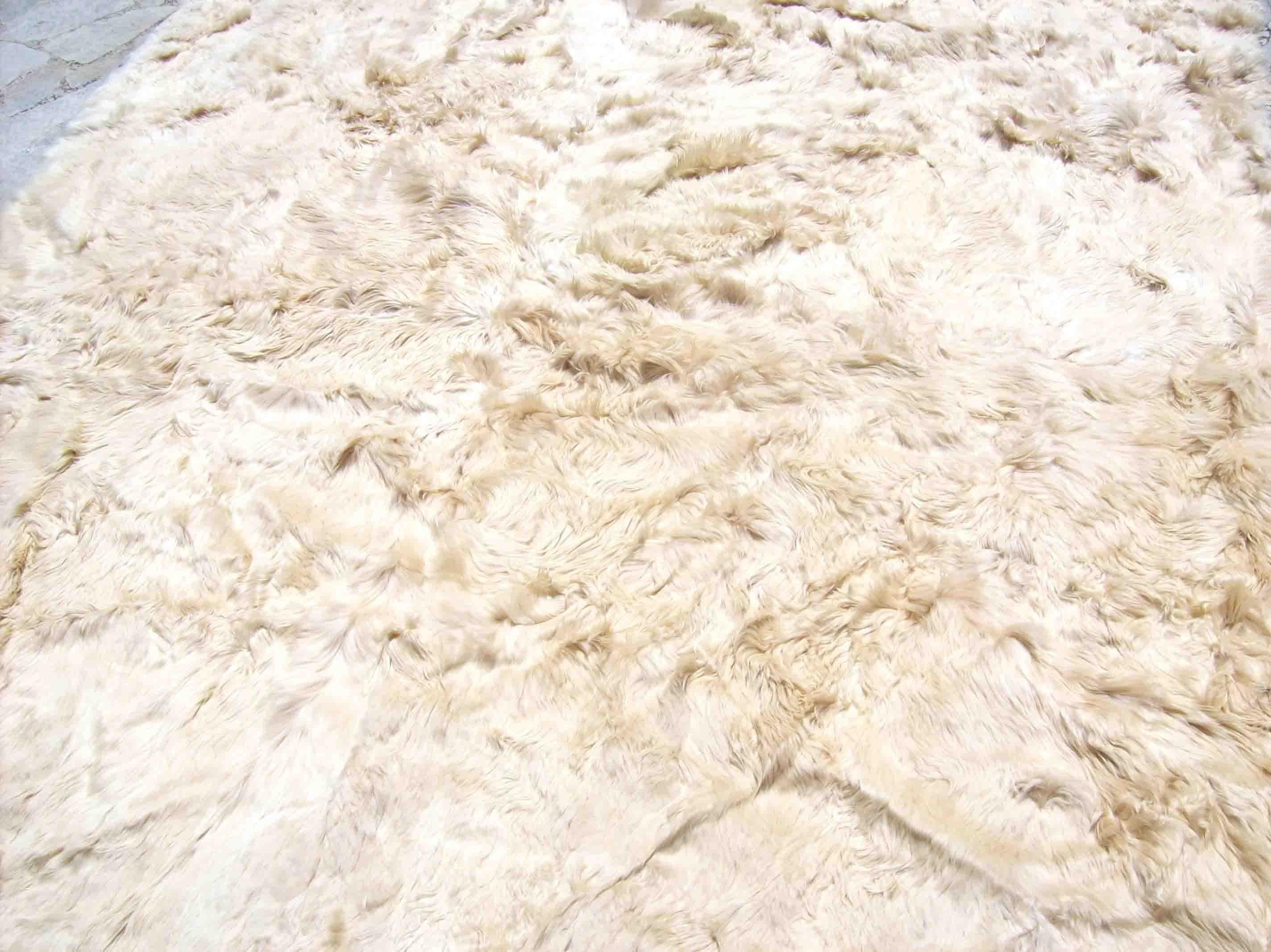 100 Suri Baby Alpaca Alfombra Manta Rug 200 X 200 Cm
