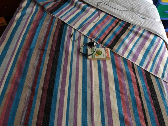 Hypoallergenic Peruvian Alpaca bed blanket, 235 x 235 cm, 3.5 kg, Jacquard-knitting
