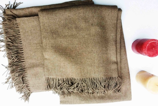 Royal Alpaca throw blanket BEIGE_ Natural Beige_sd_1