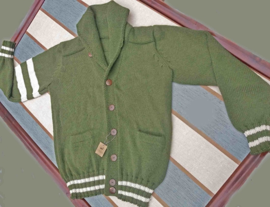 sd_Royal Alpaca Shawl Collar Cardigan_ solid green _v444