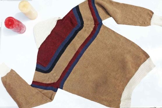 Royal Alpaca Shawl Cardigan_BEIGE_Mix_stripes_v3_sd777