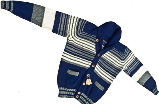 Royal Alpaca Shawl Cardigan Mixed blue-grey-ivory_ stripes _v1 AMZN_sd