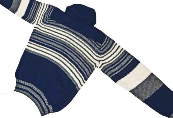 Royal Alpaca Shawl Cardigan Navy Blue_stripes_back_v777_sd