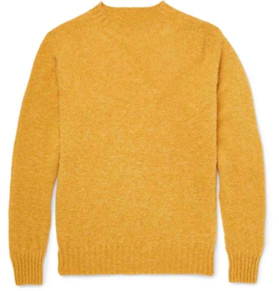 Baby Alpaca Crewneck Mustard_ Crewneck Sweater_Jumper_v1_AMZN_sddd