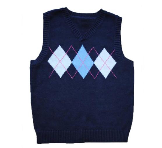Baby Alpaca Vest_blue_white diamonds_v1_sd