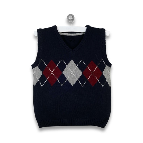 Baby Alpaca black-red-grey_diamonds_vest_v1_sd