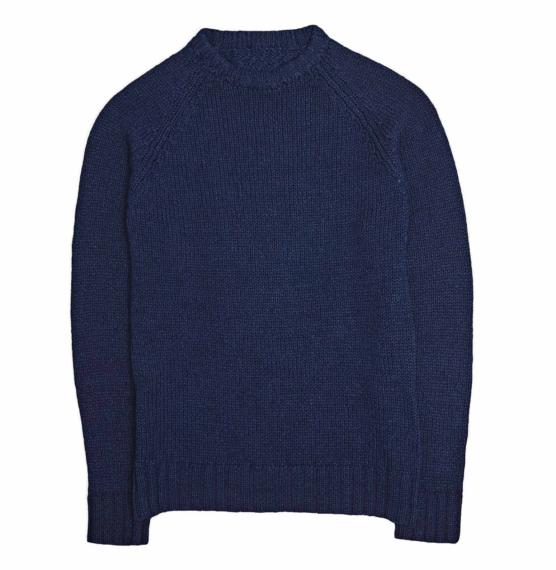 Royal Alpaca Crewneck Sweater Navy blue_ v1111_sd1