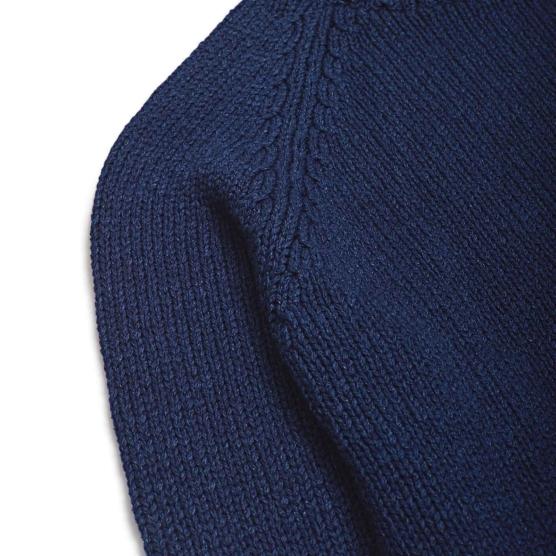 Royal Alpaca Crewneck Sweater Navy blue_ v222_sd111
