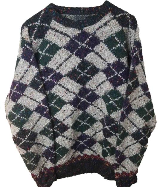 sd_Baby Alpaca Crew neck Diamond pattern_beige_green_v1