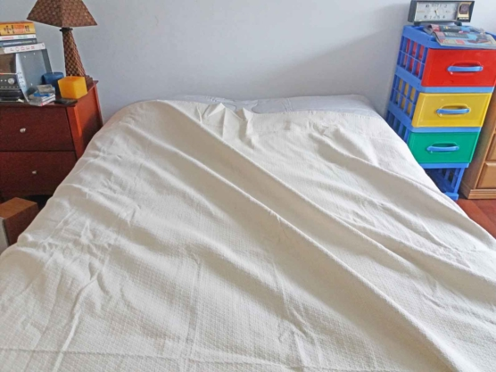 Alpaca fleece OffWhite bed blanket Queen-size.AMZN1_sd111
