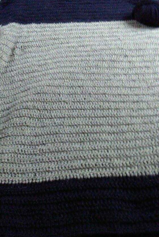 Baby Alpaca Throw blanket_crochet_handmade knitting_lightgreyblue_v2