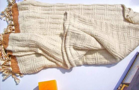 Peruvian Royal Alpaca Chunky knit Throw blanket_v1_sd