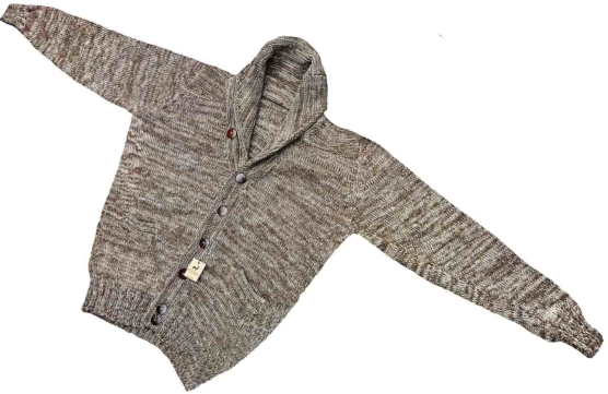 Royal Alpaca BEIGE Cardigan-Shawl collar_v777_sddd