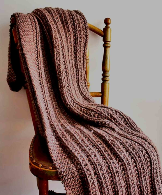 Royal Alpaca handknitted DARK Brown_ throw blanket_ v1 AMZN_SD