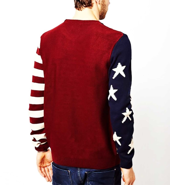 Crewneck Pullover Sweater Baby Alpaca_ USA Flag_v2_sddd