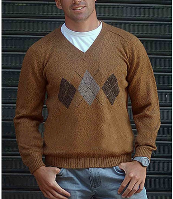 Royal Alpaca V-Neck Sweaters Pullovers Jumpers_ AMZN1__ Beige_1_sddd