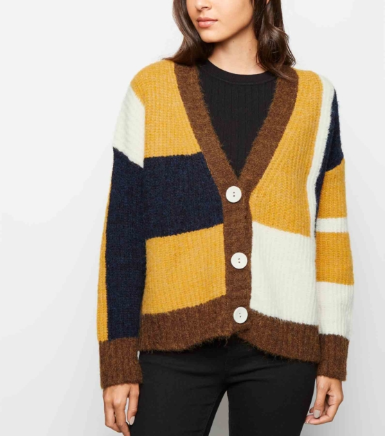 mustard-patchwork-long-sleeve-v-neck-cardigan _sddd
