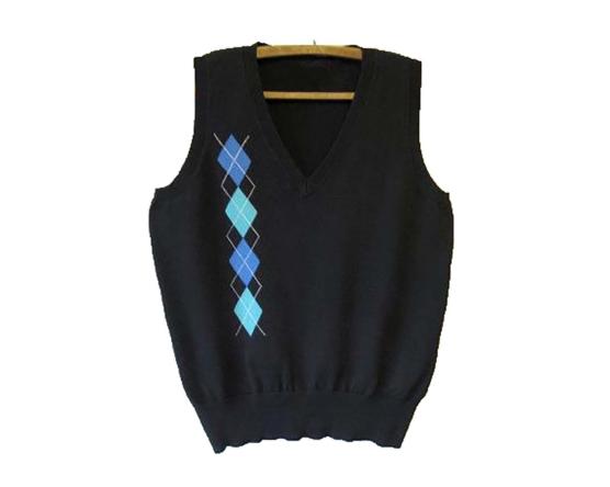 Dark grey DIAMONDS_V-Neck Vest- Sweater JUMPER-Cashmere Royal Alpaca- AMZN1_V1_sddd
