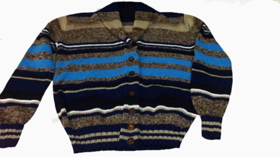 Royal Alpaca CARDIGAN_Beige_turquoise_blue_stripes_pattern_v111_sd