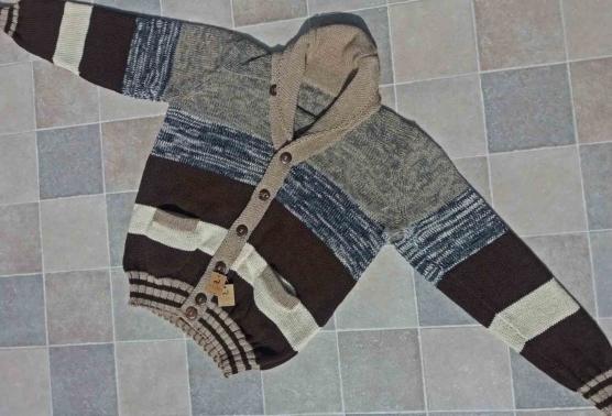 Royal Alpaca Cardigan Shawl Collar_ Dark brown_ stripes_ v1_AMZN_sddd