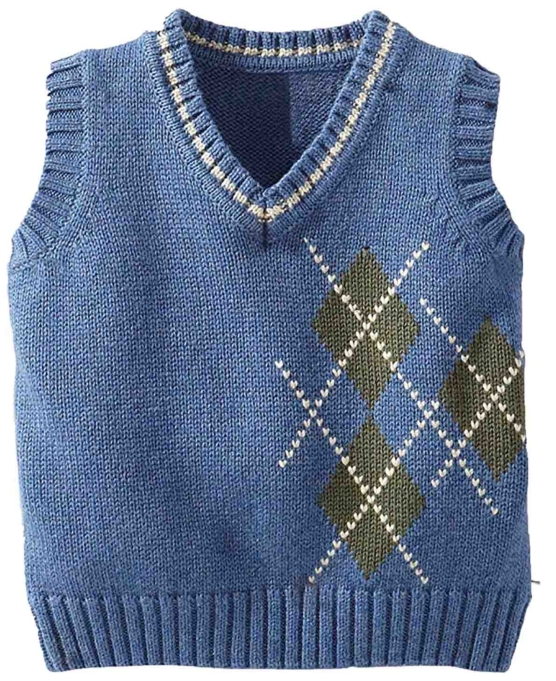 Royal Alpaca V-Neck_Light_Blue Diamonds_ Vest_AMZN1_sddd