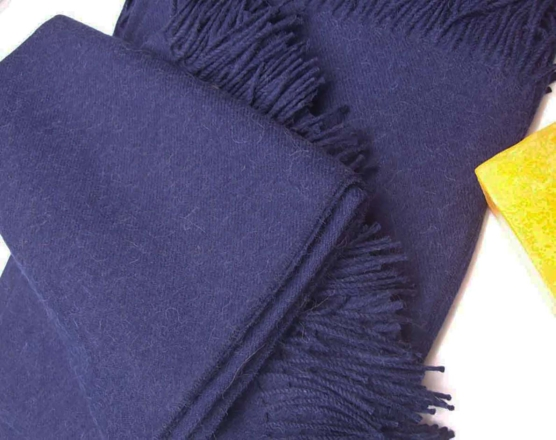 Alpaca fleece Navy Blue_Throw blanket_v1_sd