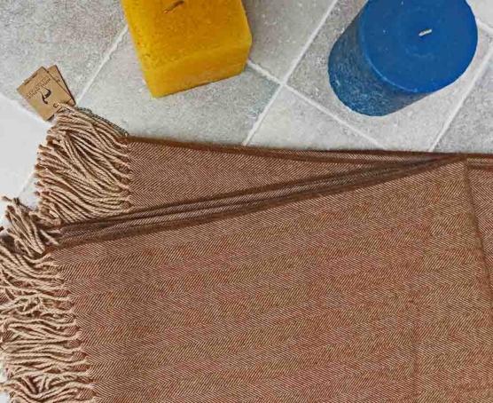 Baby alpaca throw blanket beige 130x180_sd1