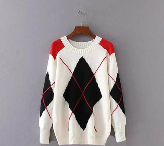 Diamond_Pattern_Fashion_Sweater_Knitwear_Royal Alpaca V-Neck Sweater- AMZN1_sd_IVORY_1