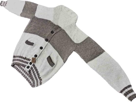 Royal Alpaca Cardigan_ Ivory_beige stripe_v1_COB_VNECK_1AMZN_sd