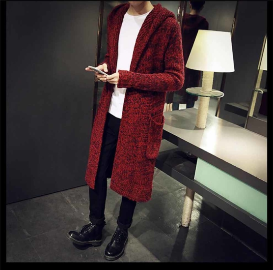 Royal Alpaca Shawl Cardigan_Hooded_v2_red_sd