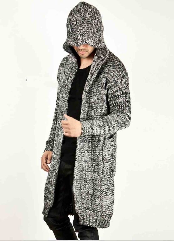 Royal Alpaca Shawl Cardigan_Hooded_v9_Grey_sd