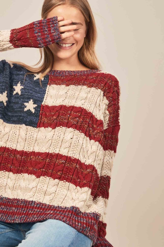 Women_Royal Alpaca Crewneck Sweater Pullover-USA_flag pattern_braided_v1_AMZN_sd1