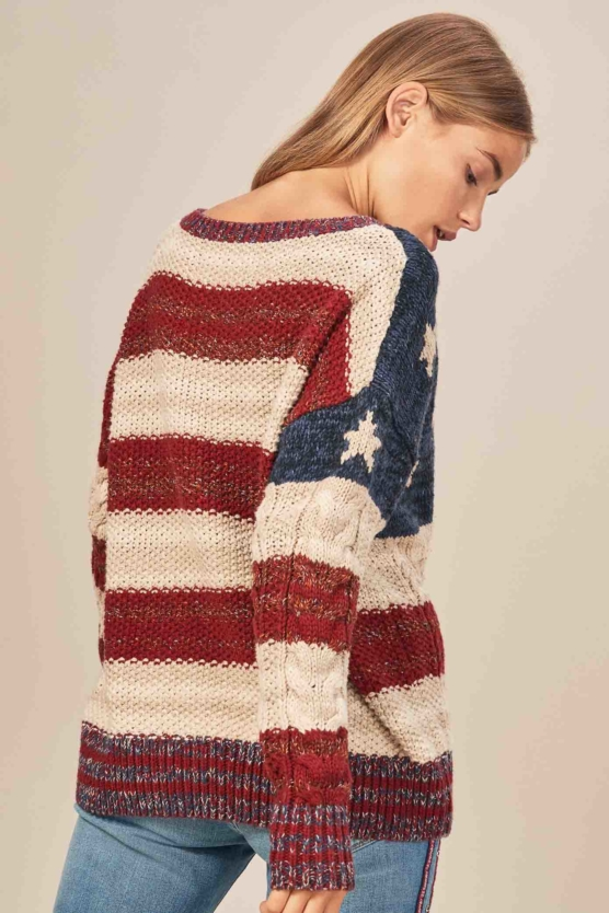 Women_Royal Alpaca Crewneck Sweater Pullover-USA_flag pattern_braided_v2_AMZN_sd22