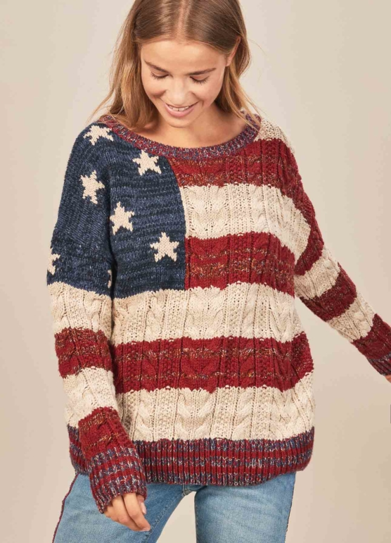 Women_Royal Alpaca Crewneck Sweater Pullover-USA_flag pattern_braided_v3_AMZN_sd333