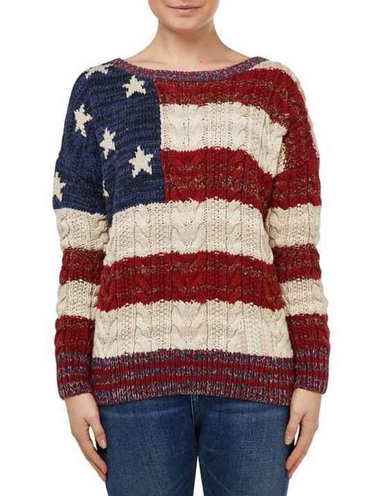 Women_Royal Alpaca Crewneck Sweater Pullover-USA_flag pattern_braided_v4_AMZN_sddd