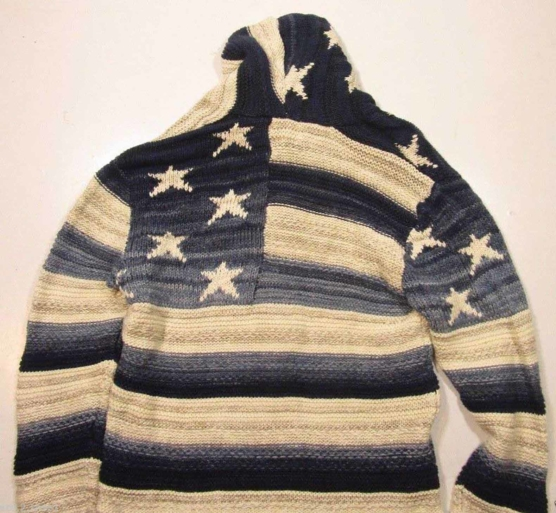 Royal Alpaca Shawl Cardigan USA flag _ navy blue_v5__ssss