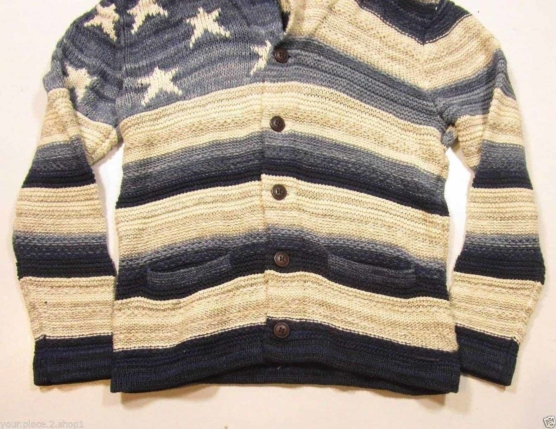 Royal Alpaca Shawl Cardigan USA flag _ navy blue_v6_ssss