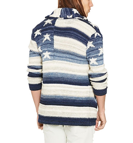 Royal Alpaca Shawl Cardigan_ USA flag_blue_v2___ssss