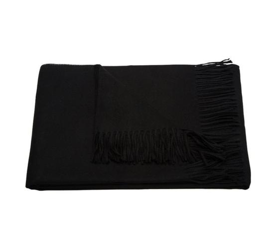 black baby alpaca throw blanket_1