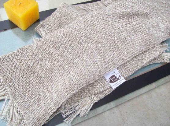 Peruvian Royal Alpaca throw blanket_crochet knit_beige_white_v2_sd