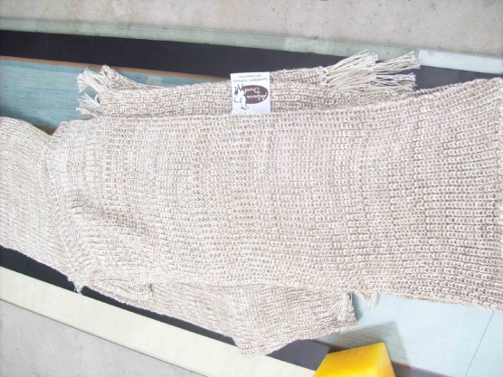 Peruvian Royal Alpaca throw blanket_crochet knit_beige_white_v3_sd