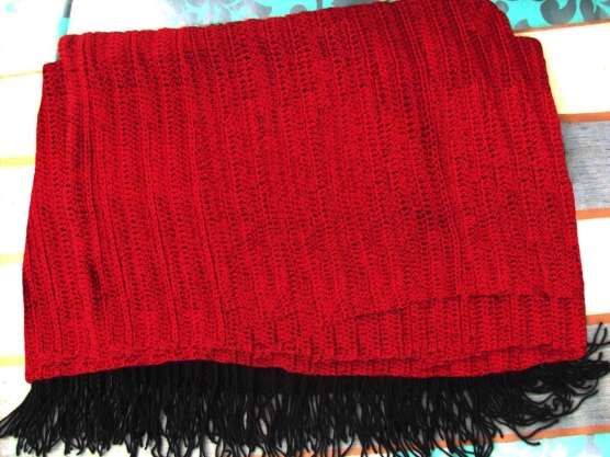 Red Crocheted Throw Blanket Baby Alpca AMZN2222_sd2