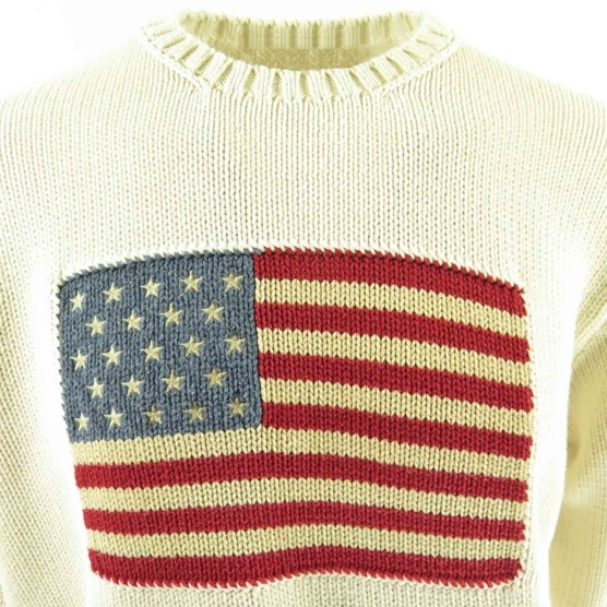 Cashmere Sweater USA flag polo OffWhite_AMZN111_sd111