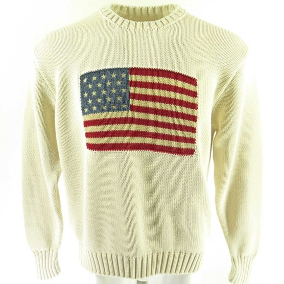Cashmere Sweater USA flag polo OffWhite_AMZN222_sd2222