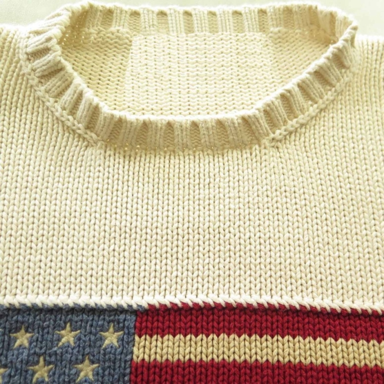Cashmere Sweater USA flag polo OffWhite_AMZN555_sd5555