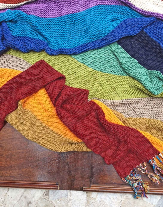 IMG_4125 Royal alpaca throw blanket handknitted_ Rainbow_AMZN222 sd9999