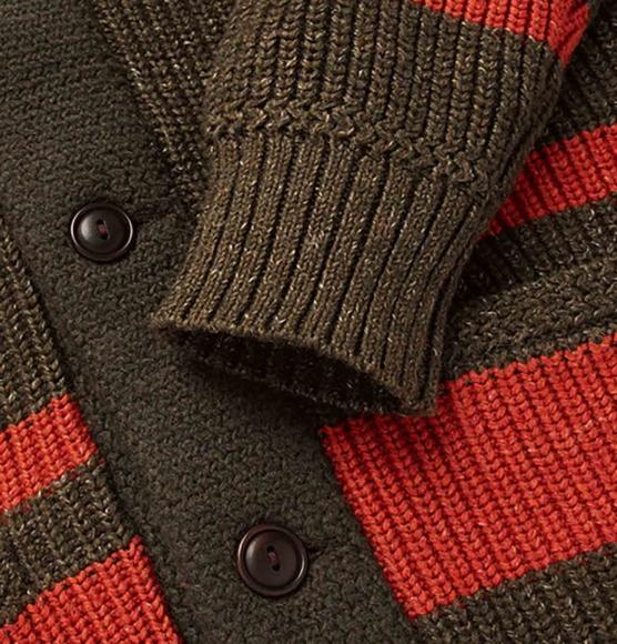 Royal Alpaca Shawl Cardigan Dark brown brick stripes_ v1_ AMZN4444_sd444